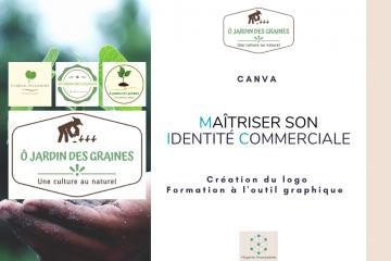 Création logo Ô jardin des graines Virginie Braconnier Marketing Consultante