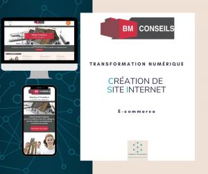 Site internet BM CONSEILS Virginie Braconnier Marketing Consultante